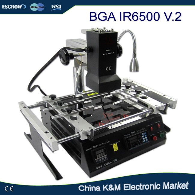 Russe D'impôt-livraison gratuite LY IR6500 V.2 IR BGA station de reprise à souder système Infrarouge rebillage machine