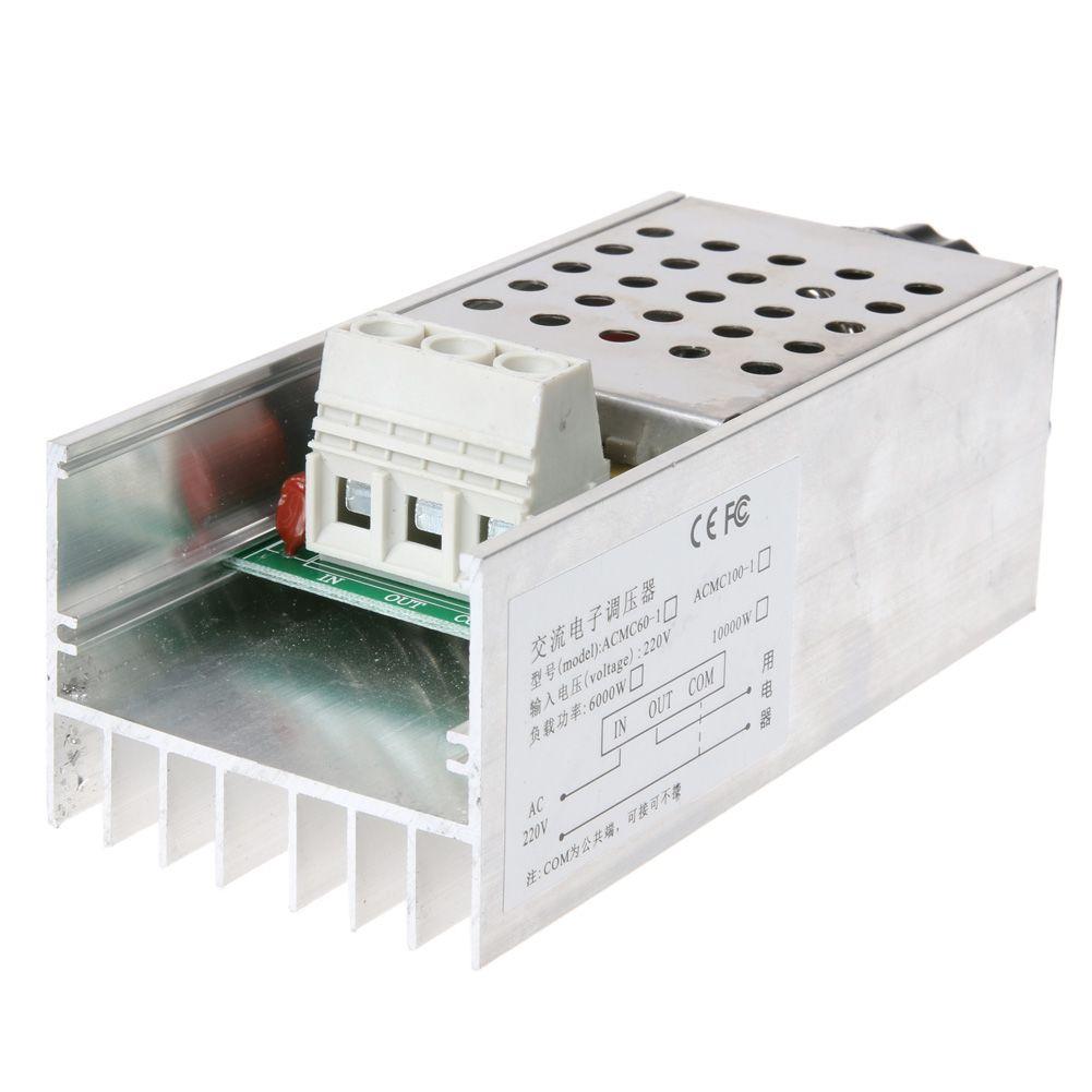 Contrôleur de vitesse de régulateur de tension SCR 220 V pour moteur à courant alternatif 10000 W électronique avec dissipateur thermique