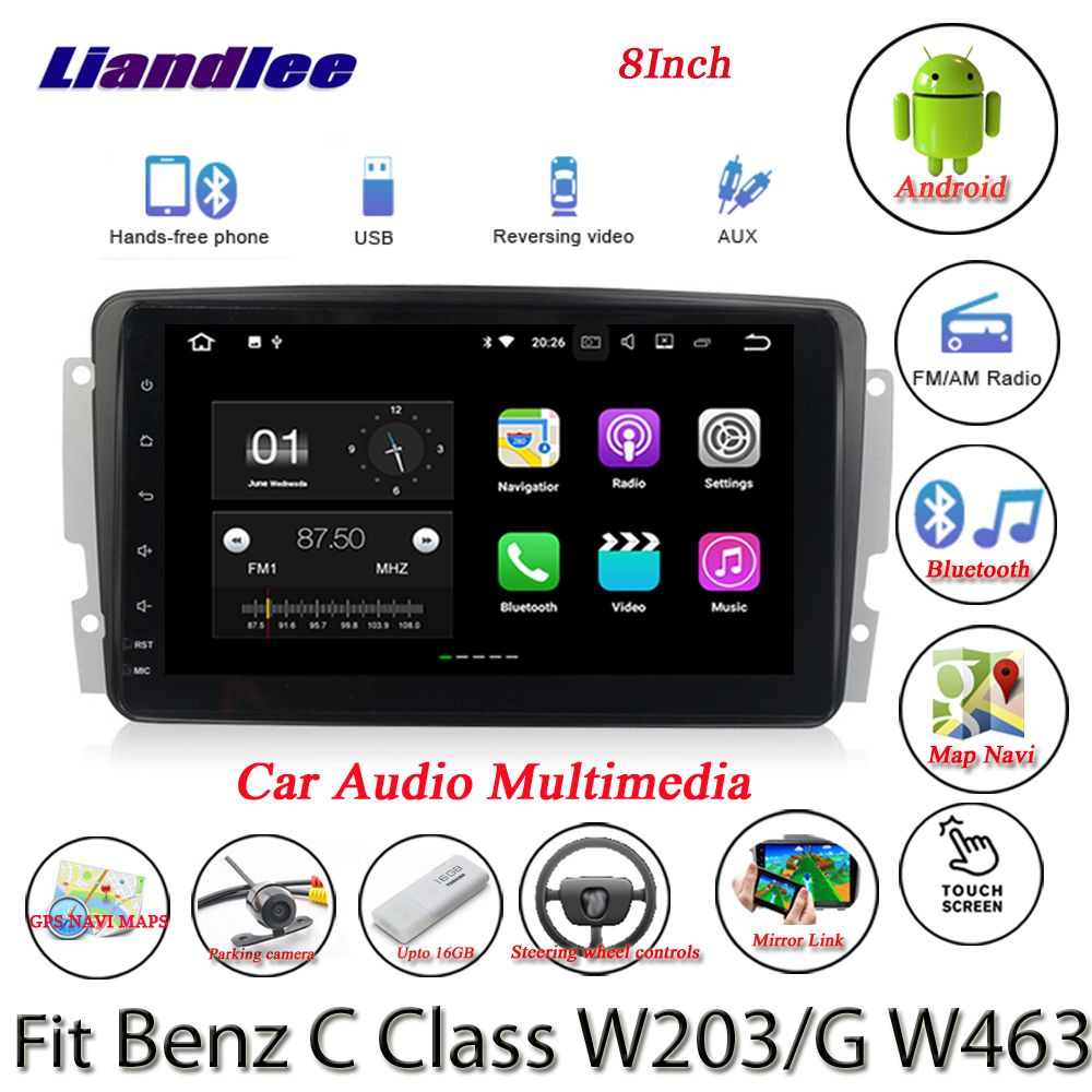 Liandlee Car Android System For Mercedes Benz C Class W203 / G W463 Radio GPS Nav MAP Navigation HD Screen Multimedia NO CD DVD
