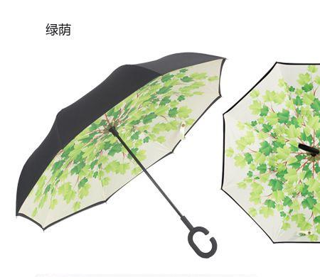 A prueba de viento Plegable Inverso Doble Capa Paraguas Invertido de Auto Soporte de paraguas de la lluvia/sol de las mujeres/de los hombres de alta calidad 2016 Niño durable