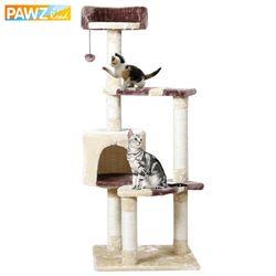 2 tipo gato juguete arañazos nueva llegada entrega doméstica H124CM poste madera escalada árbol gato saltando de pie marco muebles del gato