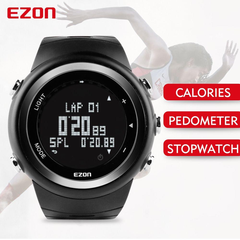 Free Shipping EZON T023 Running Sport Watch Pedometer Calorie Monitor Digital Watch Outdoor Running Sports Watches Waterproof