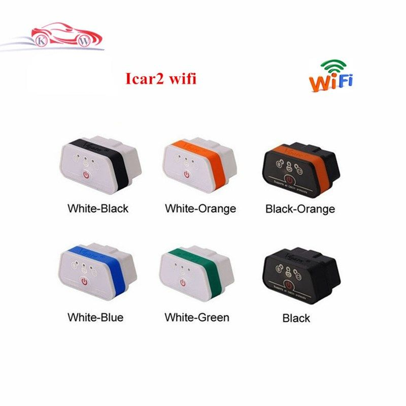 Free Shipping Newest Vgate ELM327 iCar2 WIFI ELM327 OBD2 EOBD CAN iCar ELM327 Adaptor iCar2 ELM327 Diagnostic Adapter