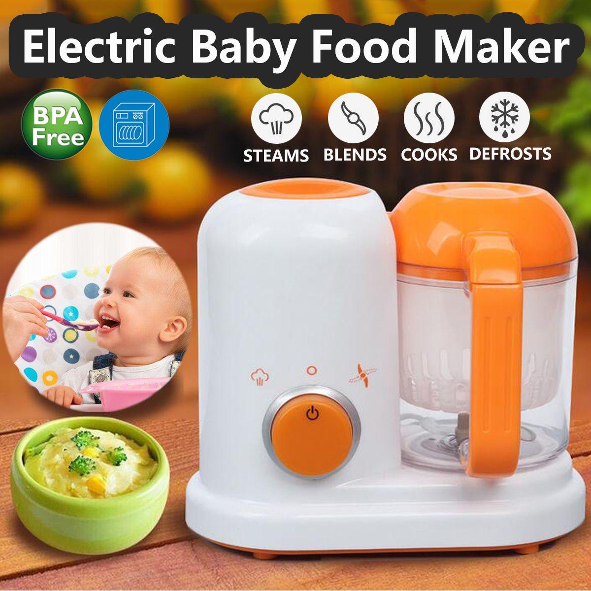 Alle In Einem Kleinkind Mixer Elektrische Baby Lebensmittel Maker Dampfer Prozessor BPA FREI Lebensmittel-Graded PP EU AC 200 -250 v Dampf Lebensmittel Sicher