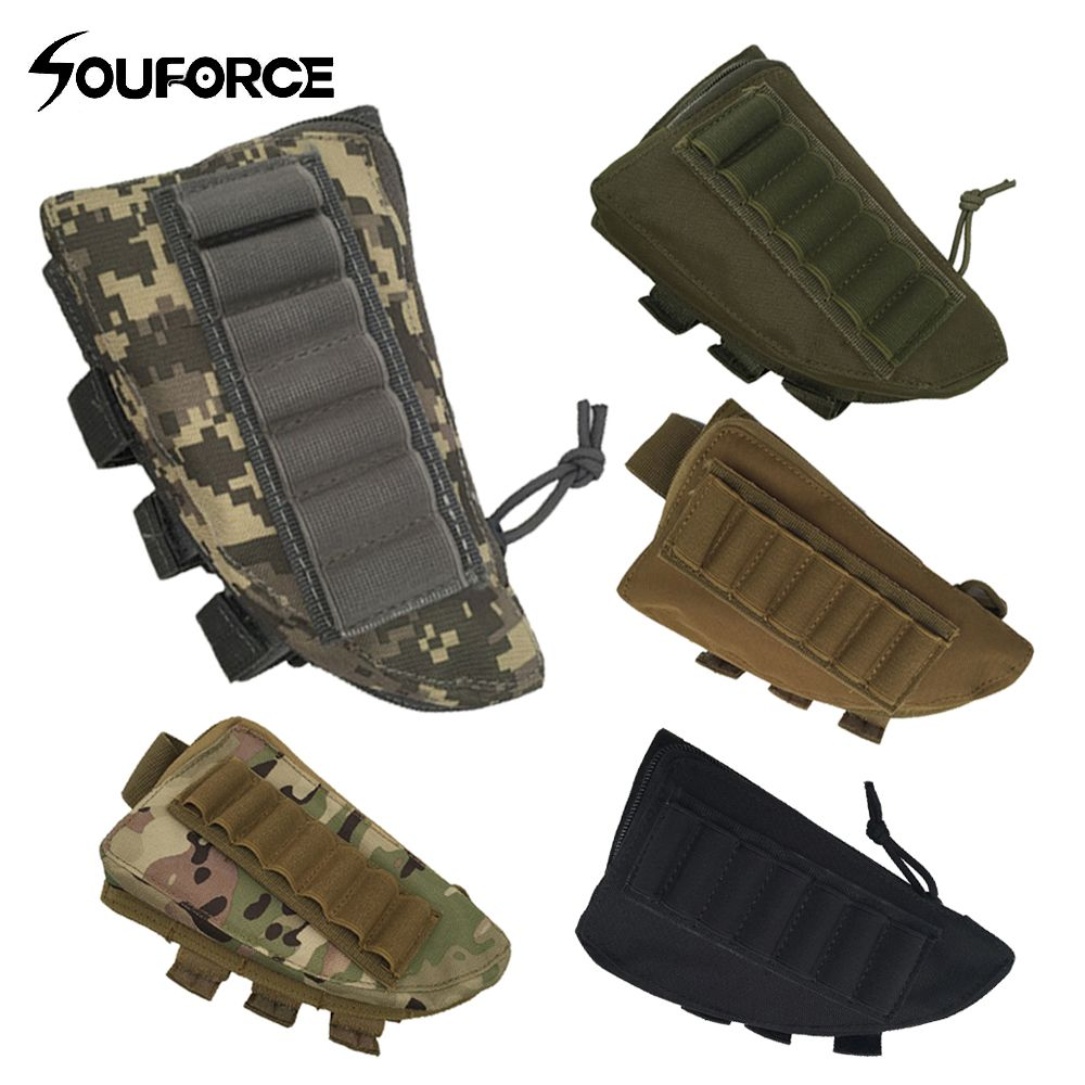 Tactical Rifle Shotgun Buttstock Cheek Rest Rifle Stock Ammo Shell Density Nylon for Hunting Accessories