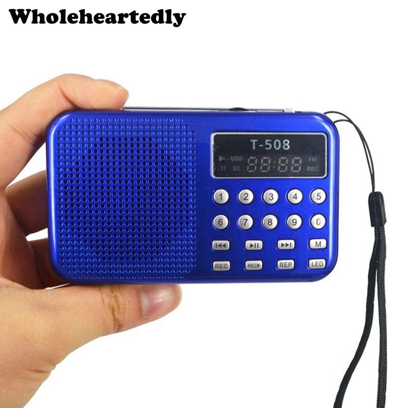 Haut-parleur de Radio FM stéréo de panneau de affichage LED numérique Mini Portable double bande Rechargeable USB TF mirco pour lecteur de musique MP3 de carte SD