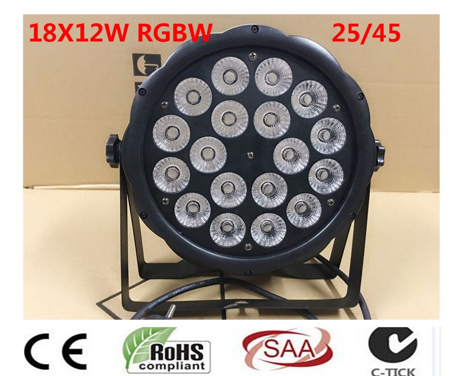 LED Par 18x12 W RGBW 4IN1 luce della lavata Luci di Lusso Controlador DMX Led Flat Par dj