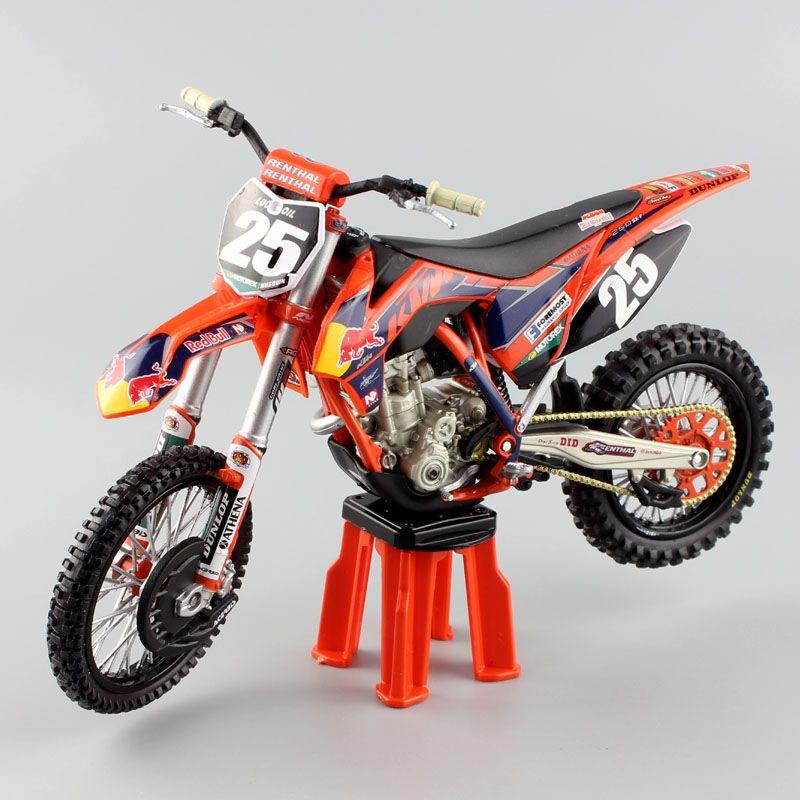 1/12 scale KTM 250SX-f No.25 red bull racer Motorcycle Diecast Model Motocross enduro motorbike MX MOTORRA dirt car mini toy