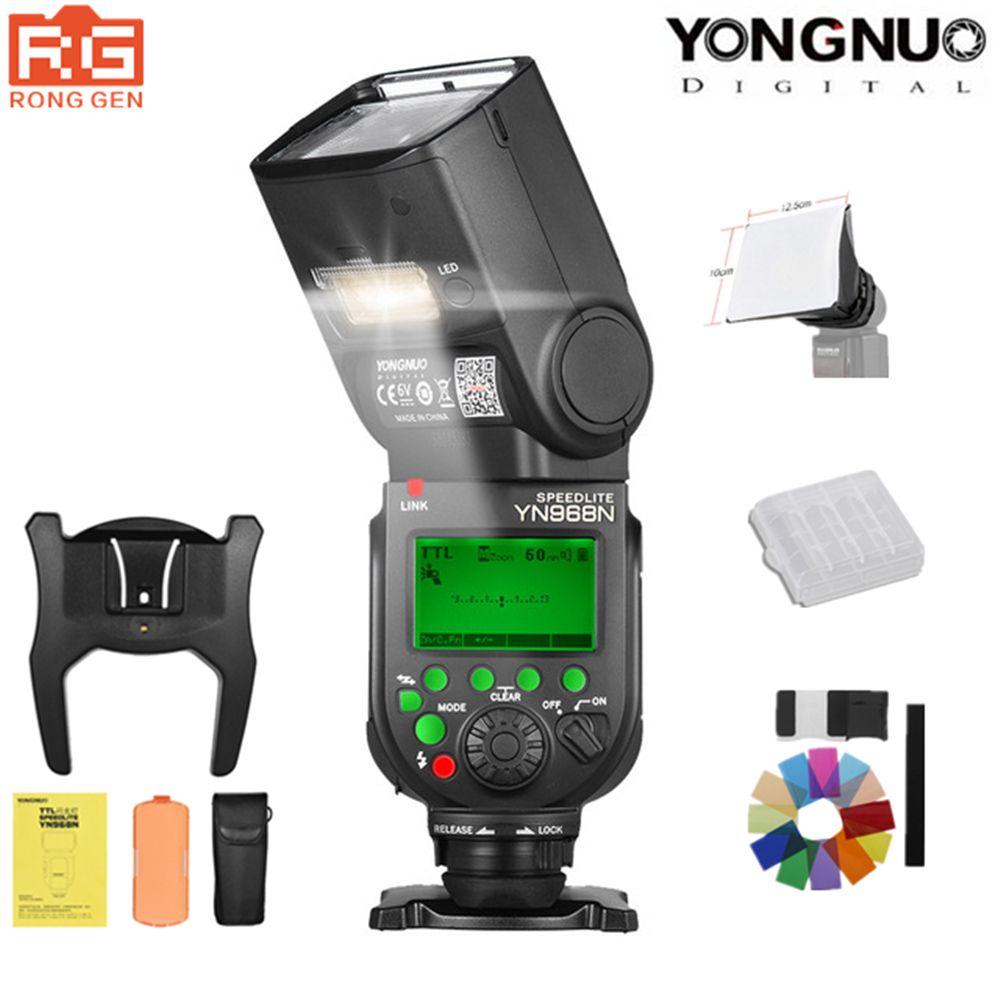 YONGNUO YN968N 2.4G Wireless High-speed Sync TTL 1/8000s Flash Speedlite Auto zoom for Nikon DSLR Camera Compatible YN622N YN560