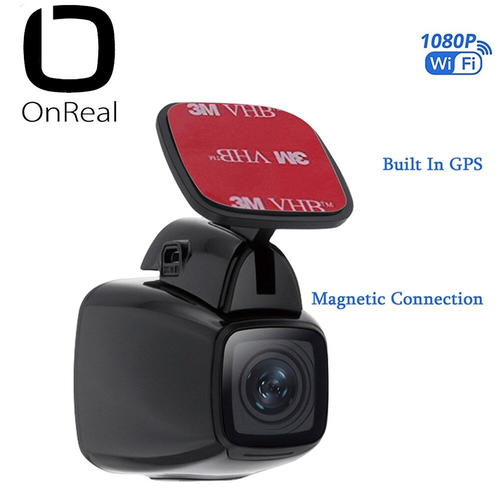 OnReal car DVR dash camera Vehicle Camera Magnet bracket FHD1080P with GPS recording