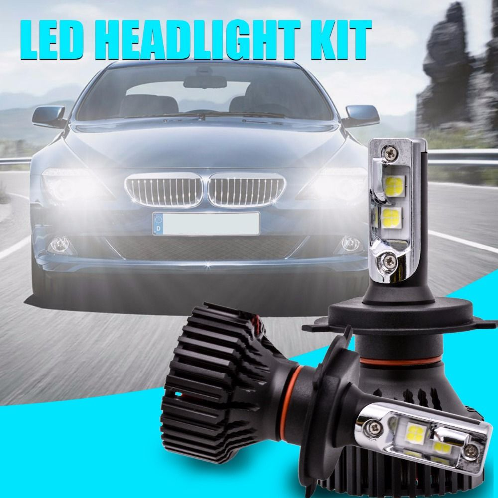 1 pair H4 H13 9004 9007 Hi/Lo Beam H7 9005/HB3 9006/HB4 H10 H11 9012 H16 P13W PSX24W PSX26W P13W 5202 Led Headlight Kits DRL