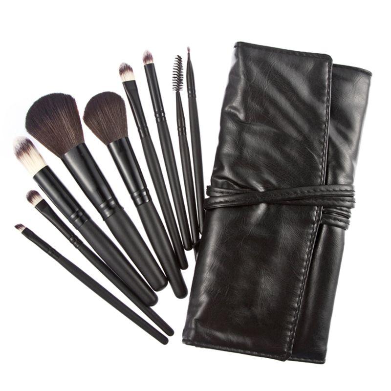 9 pcs Maquiagem makeup brushes set Eyeshadow Pro Cosmetic Makeup Brushes Set kit Black pinceaux brochas pincel maquillage