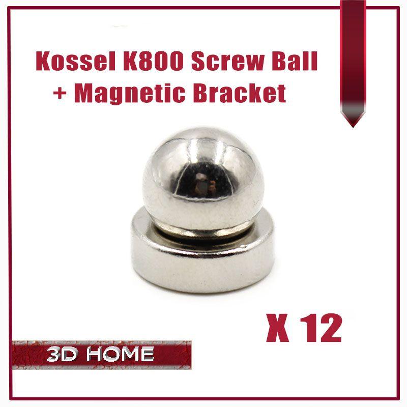 12kit=24pcs 3D Printer Reprap Delta Kossel K800 Round Screw Ball + Round Magnetic Bracket / 3D Printer Reprap Delta Kossel K800