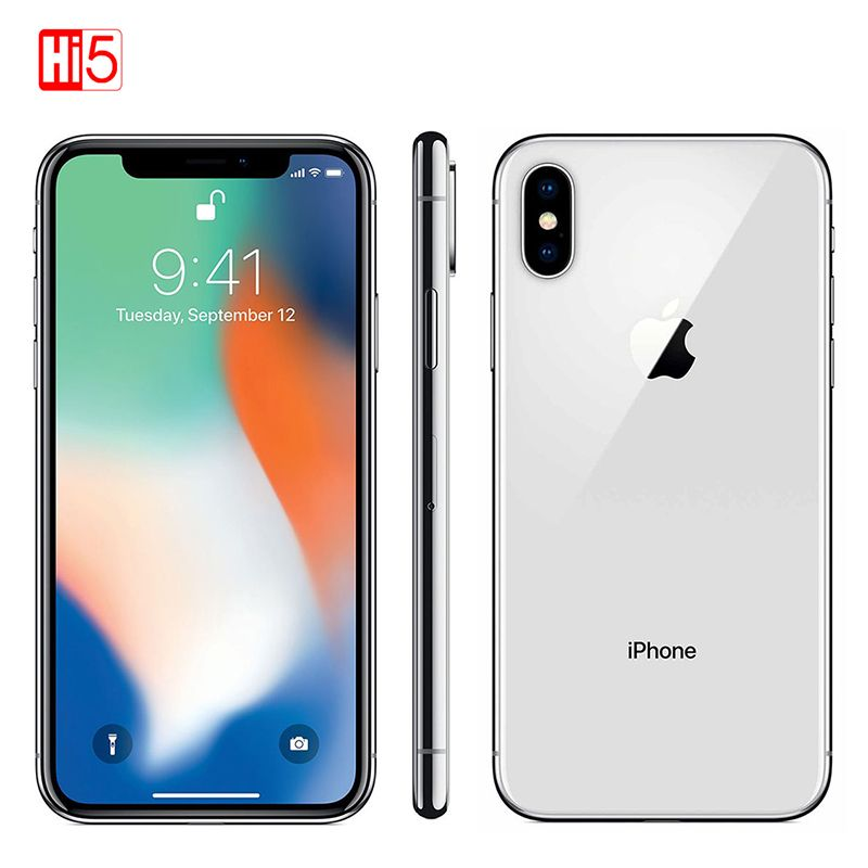 Original Entsperrt Apple iPhone X Gesicht ID 64 GB/256 GB ROM 3 GB RAM 5,8 zoll Hexa Core iOS A11 12MP Dual Zurück Kamera 4G LTE