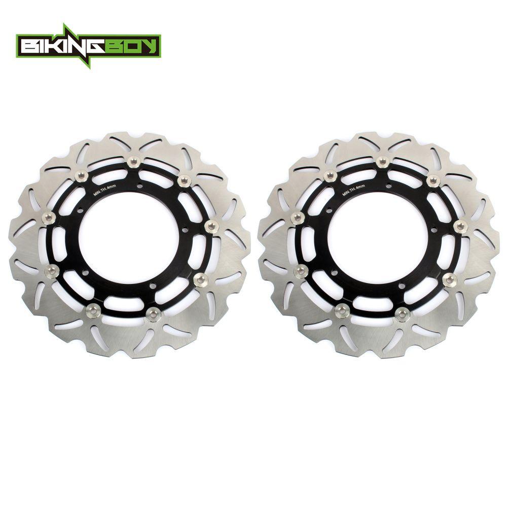 BIKINGBOY Bremsscheiben Vorne Rotoren Disks V-MAX 1700 VMX 09-16 YZF R6 17 18 19 R1 04 05 06 15-FZ1 FAZER 1000 FZ1/ABS 14 13 12
