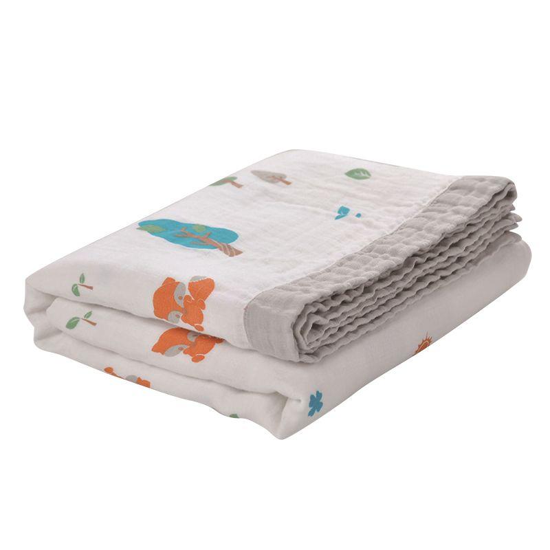 120*160 cm Musselin Decken Babys Swaddling 100% Baumwolle 3 Schicht Tier Gedruckt Decken Neugeborenen Baby Swaddle Wrap Herbst decke
