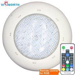 Piscina lámpara LED AC/DC 12 V 24 W 36 w bombilla LED IP68 SMD5730 Leds iluminación SPA estanque RGB caliente/frío blanco fuente focos