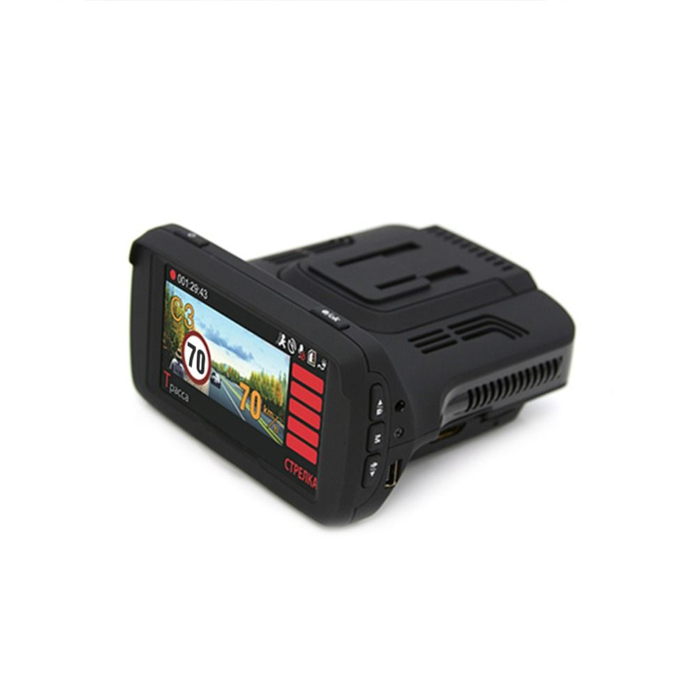 1080P HD 3-in-1 Car Radar Detectors DVR Ambarella A7 Auto GPS LDWS Video Recorder Registrar DashCam for Russian Language