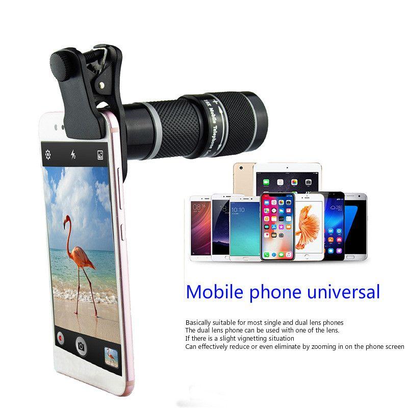 18X HD Caméra Télescope Téléobjectif Téléphone Mobile Lentille 8 dans 1 set Universel Grand Angle Macro Fisheye Photographie Lentille Externe