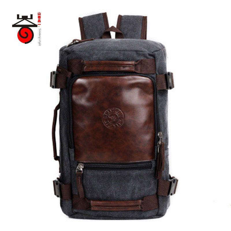 Senkey style 2018 Fashion Large Capacity Rucksack Men's Canvas Backpack MULTIFUNCTION Leisure Travel Men's Laptop Backpacks bag