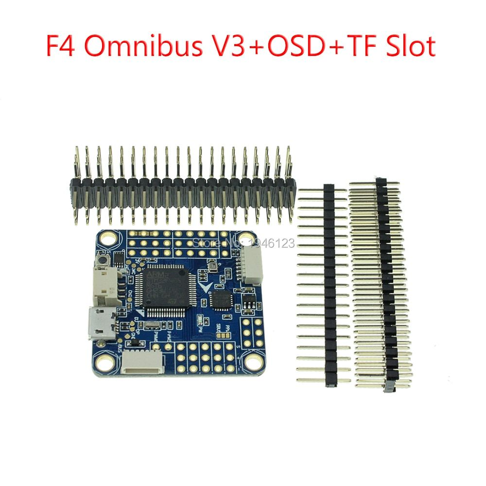 Newest F4 Pro Flight Controller F4 Omnibus V3 +OSD+TF Slot Updated for RC FPV Indoor Racing Quadcopter Drone