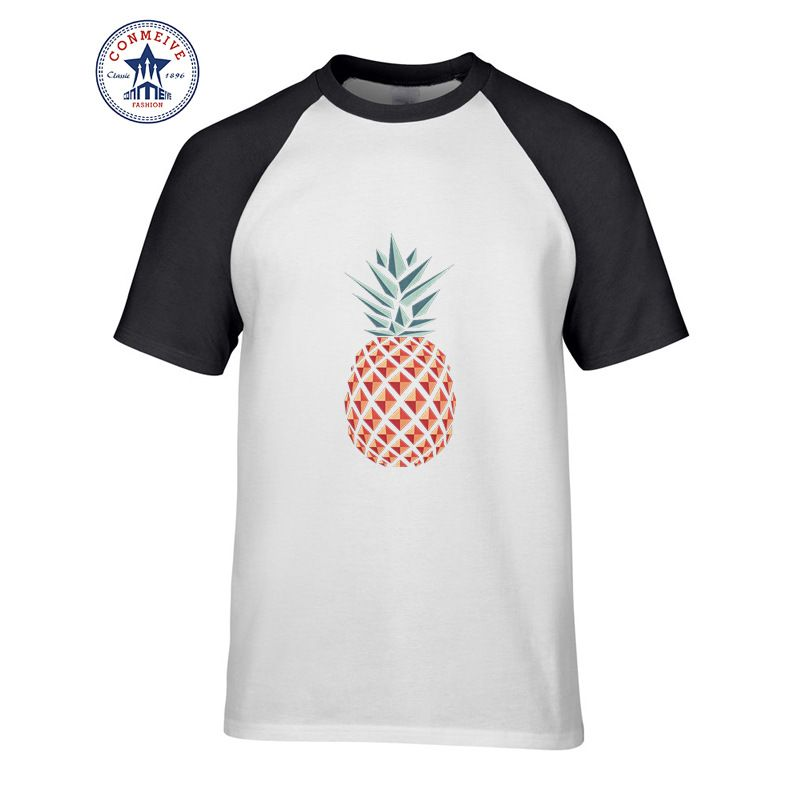 2019 Hot sale Mix Color Fashion Casual Pineapple Graphic funny t shirt for men short sleeve