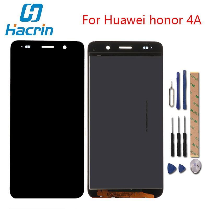 hacrin For Huawei Honor 4A LCD Display +Touch Screen New Display Digitizer Glass Panel For Huawei Honor 4A Y6 SCL L01/L21 /L04