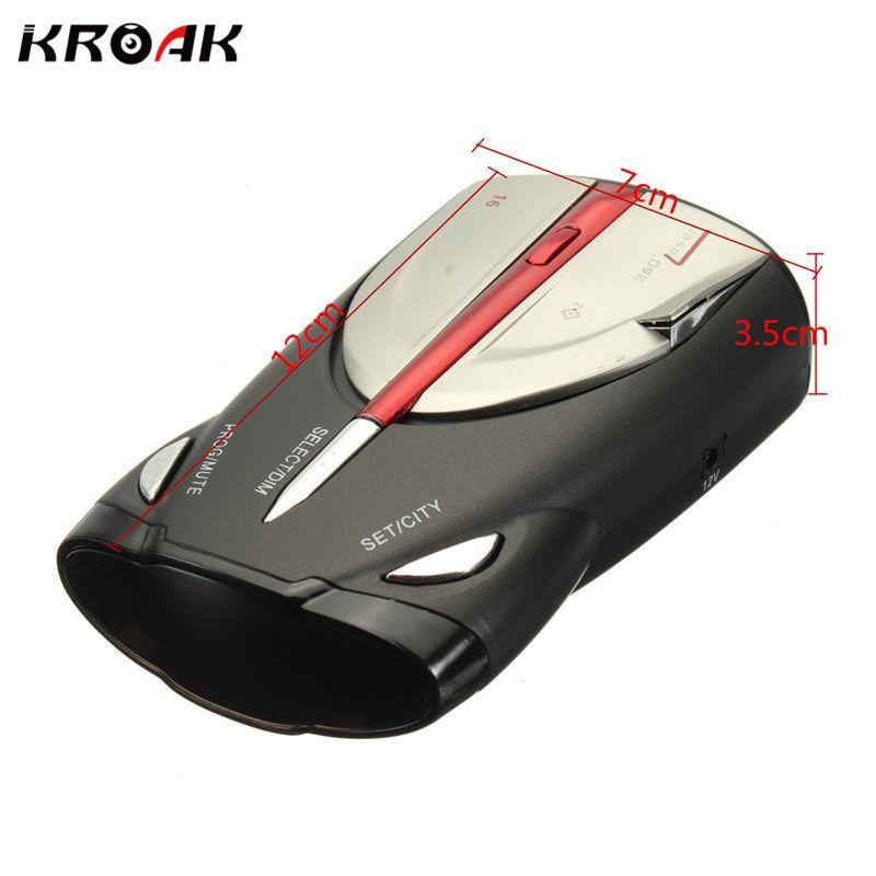 XRS 9880 360 Degree Car Radar Detector 16 For Band Russia/English Version LED Display GPS Laser Anti Radar Detector For Car
