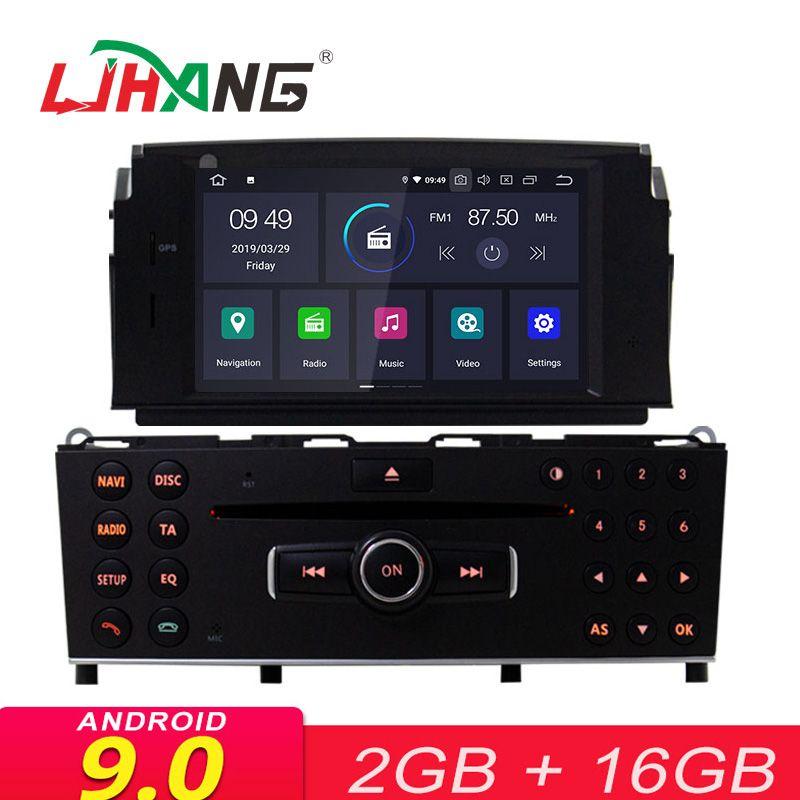 LJHANG Android 9.0 1 Din Auto Multimedia Player Für Mercedes Benz C200 C180 W204 2007-2010 WIFI Auto DVD Player GPS Navi Steuergerät