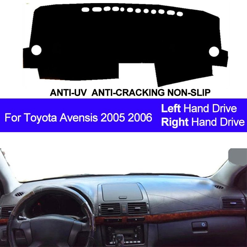 Auto Car Dashboard Cover Dash Mat Dash Board Pad Carpet Dashmat Anti-UV Mats For Toyota Avensis 2005 2006 LHD RHD Car Styling