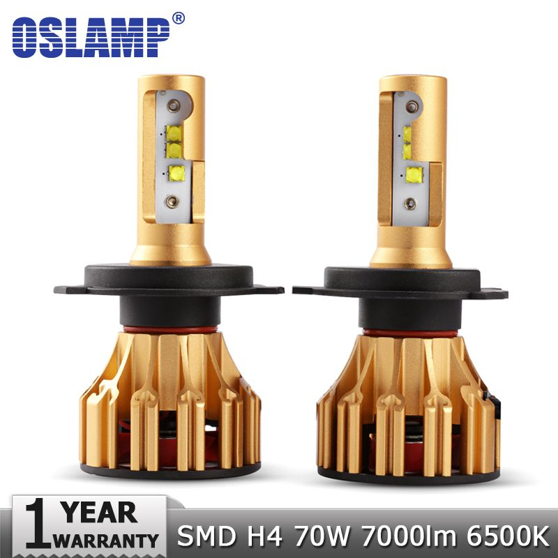 Oslamp H4 LED Car Headlight Bulbs SMD 70W 7000LM 6500K Auto Led Headlamp Led Light Bulb 12v 24v for Renault Toyota Kia VW Golf