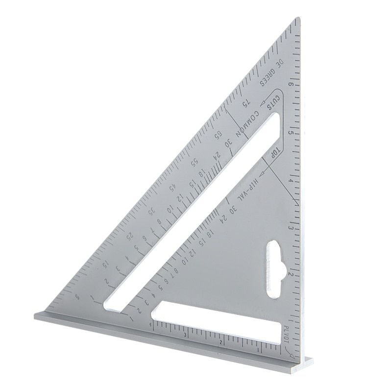 8''/200mm Triangle Ruler Protractor Aluminum Alloy 90 Degree Angle Ruler For Builders DIY Artists Woodworking Measuring Tools