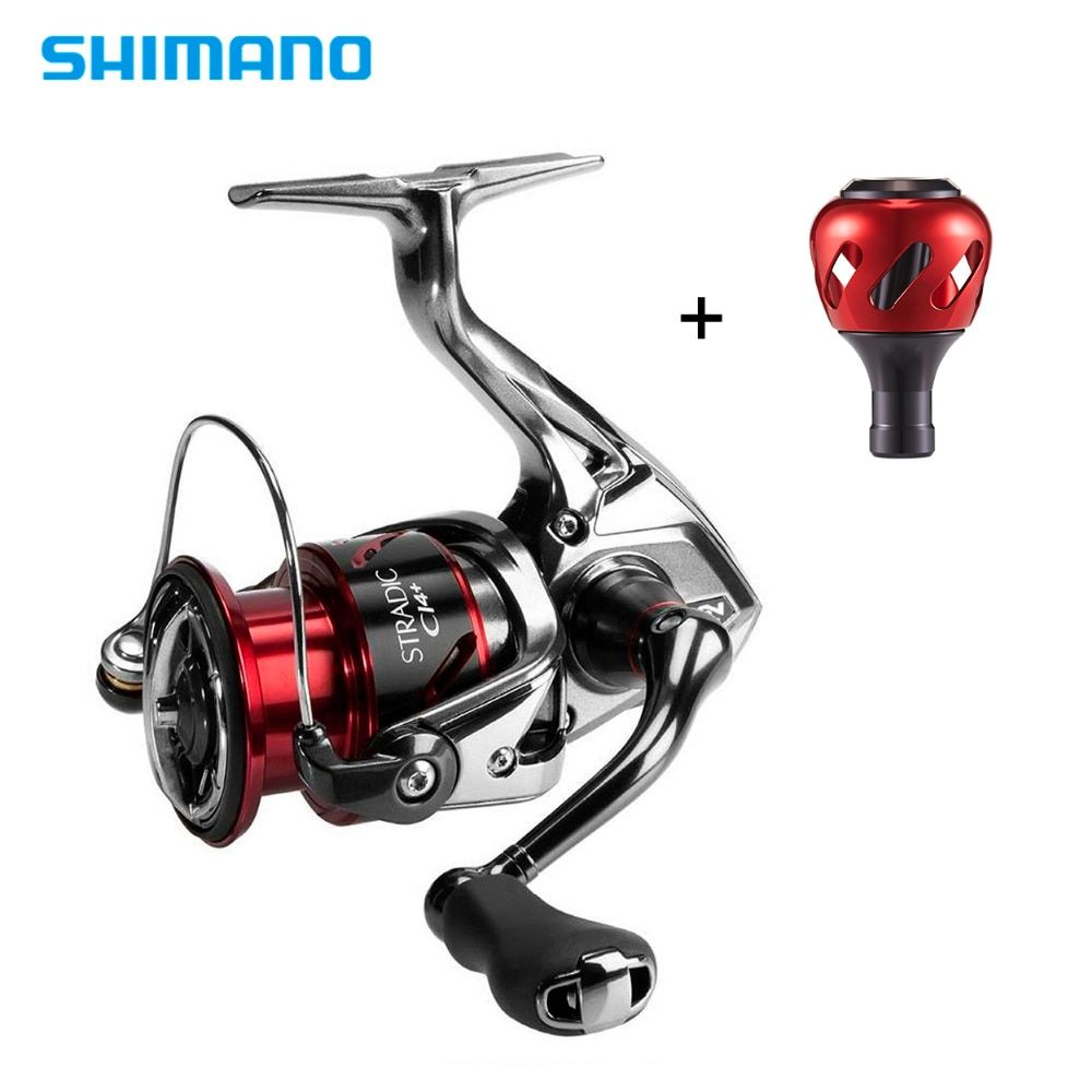 Shimano Stradic CI4+ Spinning Reel With Extra Handle Knob 1000HG 2500HG C3000HG 4000XG 6.2:1 High Gear Ratio 6+1BB Fishing Reel