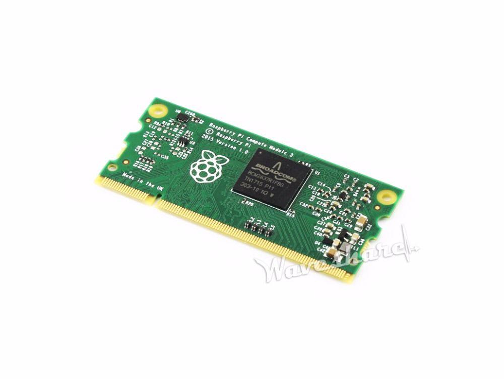 Raspberry Pi Compute Module 3 Lite Contains the guts of a Raspberry Pi 3 1.2GHz quad-core ARM Cortex-A53 processor
