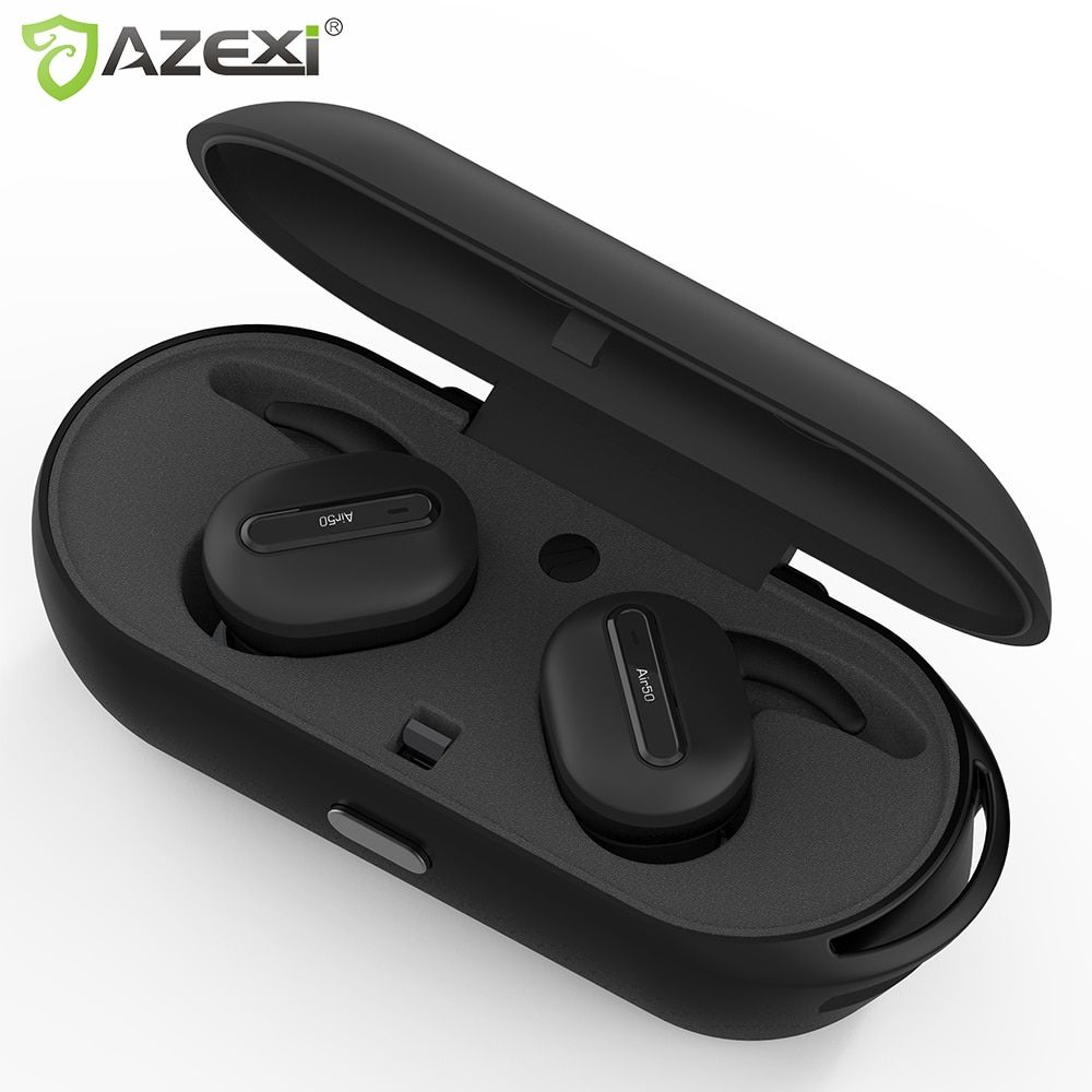 True Wireless Bluetooth earphones Stereo Binaural Sports Earbuds In-Ear Earphone Built-in <font><b>Microphone</b></font> with Chargeable Mini Box