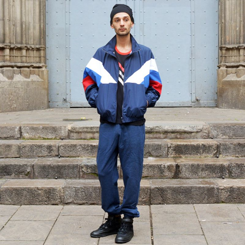 Aolamegs Jacket Men 2017 Classic Navy Tricolor Sporting Long Sleeve Windbreaker Jackets Hiphop Skateboards Couples Outwear