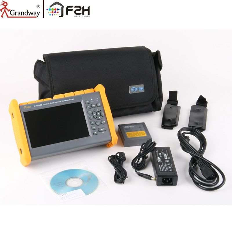 GRANDWAY F2H 1310/1550nm 26/24 dB Built-in Visual Fault Locator (VFL) & Power meter (PM) SM Optical Fiber OTDR Tester