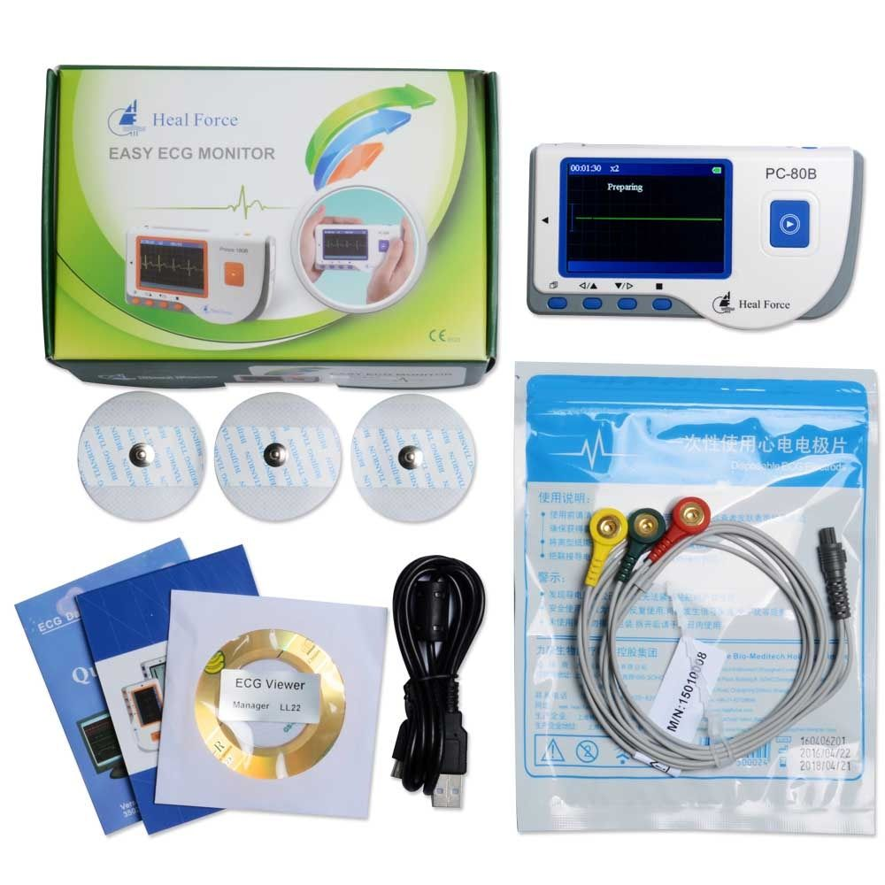 Heal Force PC-80B Portable Household Heart Ecg Monitor Color Screen CE & FDA Approved
