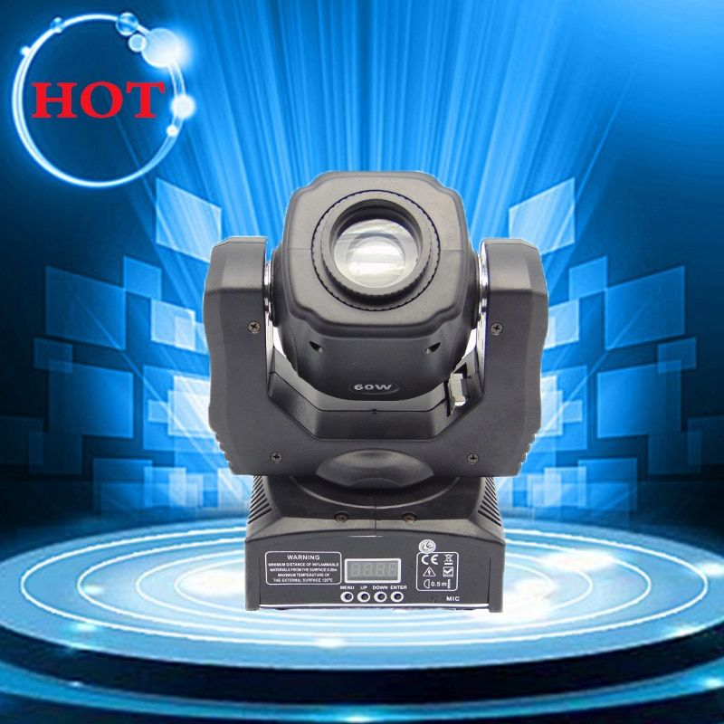 60W spot led moving head gobo lights with DMX control for projector dj stage lighting