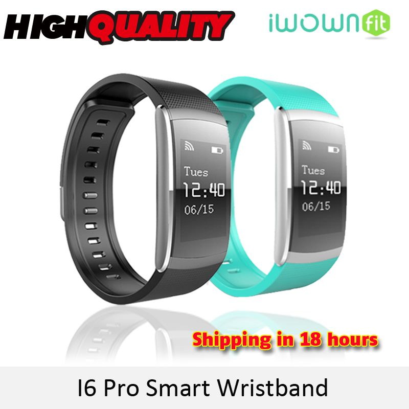 KGG IWOWN IWOWNFIT I6 PRO Smart Wristband Heart Rate Monitor IP67 Waterproof Smart Bracelet Fitness Tracker support Andriod IOS