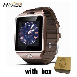 Smart watch horloge avec fente pour carte sim push message bluetooth connectivité android téléphone mieux que dz09 smartwatch hommes montre