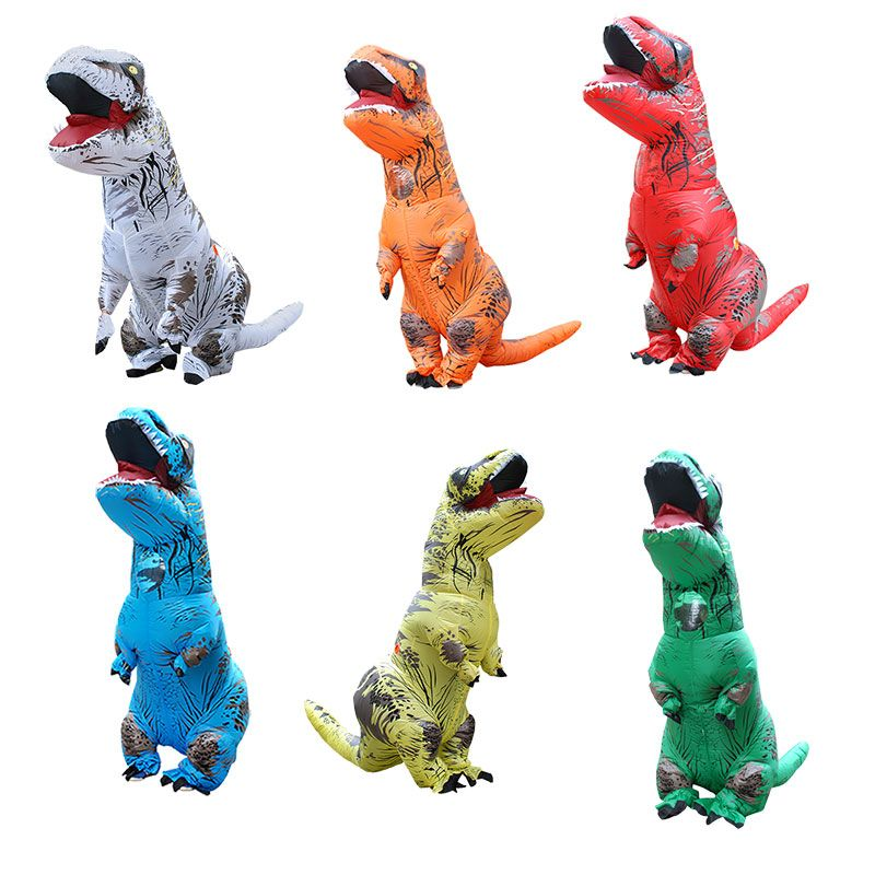 Inflatable dinosaur costume T REX Halloween cosplay Carnival Christmas costumes for women men Blowup Mascot Party Fancy Dress
