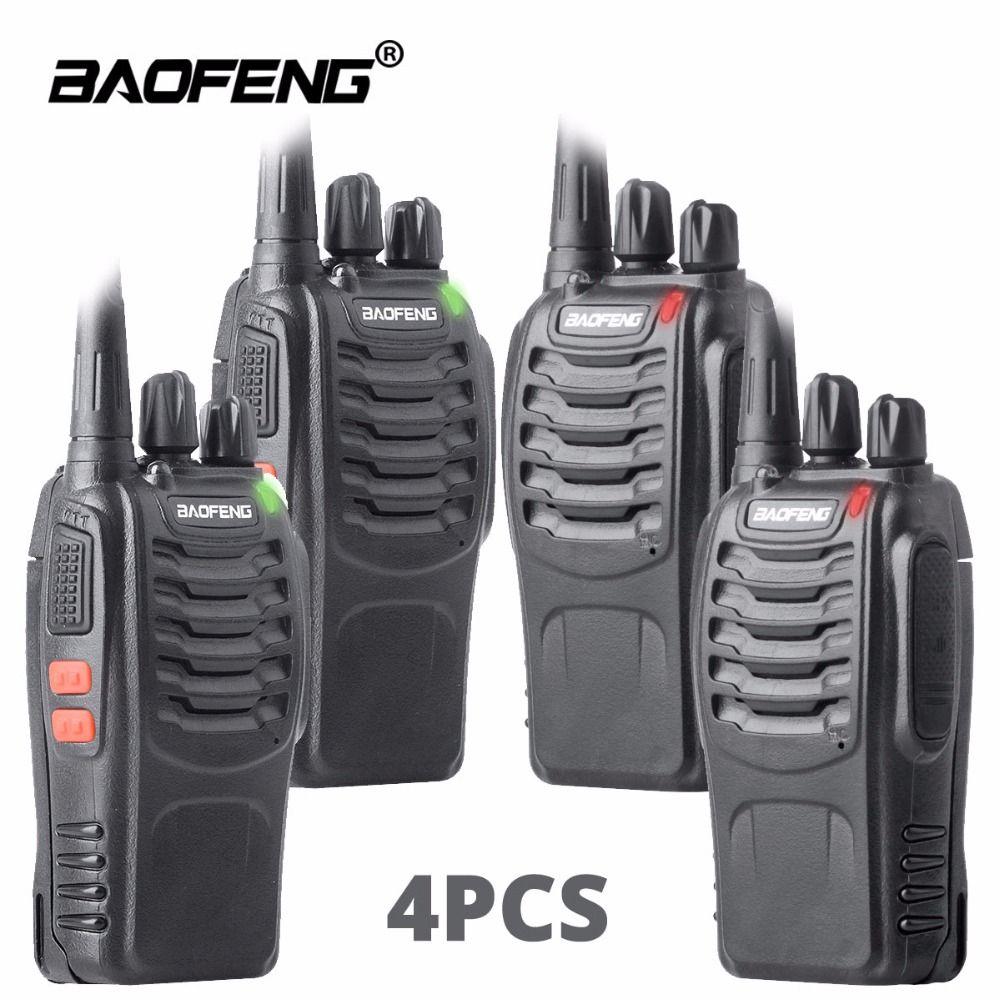 4 pièces talkie-walkie baofeng bf-888s station de radio de jambon UHF 16CH BF888s deux voies radio Portable équipe émetteur-récepteur pour la chasse en plein air