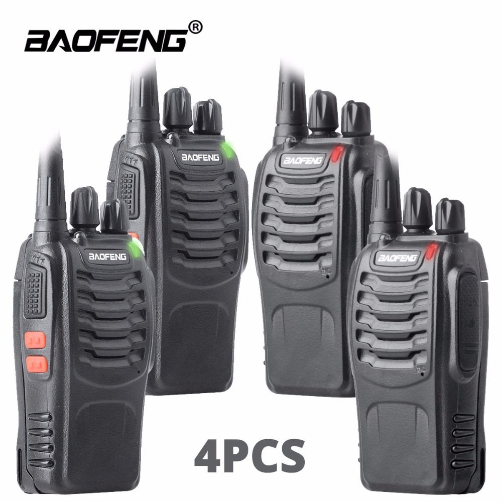 4pcs walkie talkie baofeng bf-888s ham radio station UHF 16CH BF888s Two way radio Portable Team transceiver for Outdoor hunting