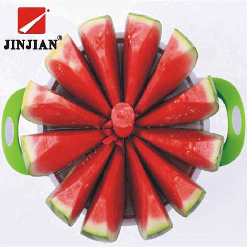 JINJIAN cuisine outils pratiques créatif pastèque trancheuse Melon Cutter couteau 410 acier inoxydable fruits coupe trancheuse
