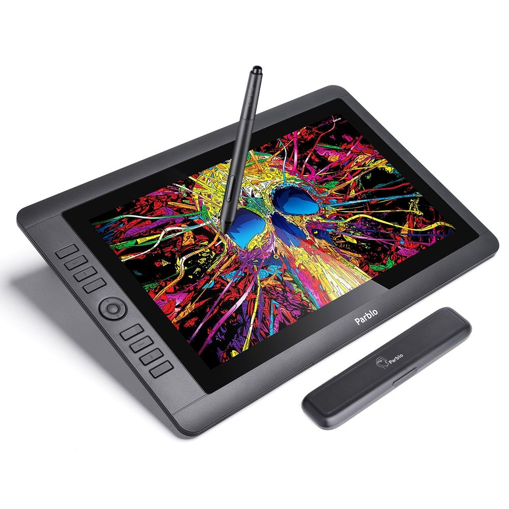 Parblo Coast16 15,6 IPS TFT LCD 1920x1080 Graphic Tablet Zeichnung Monitor Batterie-freies Passive Stift 8192 ebenen Druck