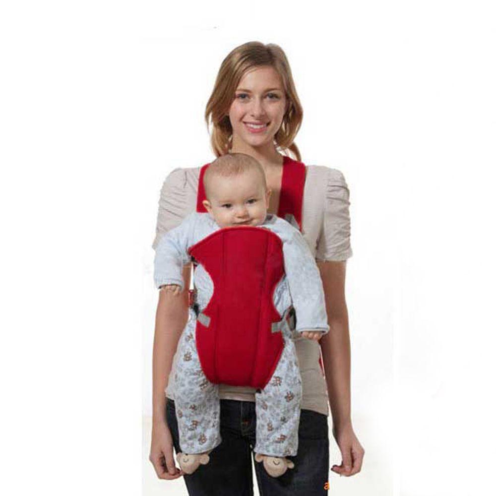 2018 Rojo Frontal Frente a la Porta Bebé Sling Newbrons Bolsa Wrap Mochila Canguro para Bebés de 2-30 Meses Para niños Bebé