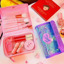 Wanita Indah Cute Pvc Kosmetik untuk Anak Perempuan Fashion Perjalanan Make Up Tas Makeup Perlengkapan Mandi Penyimpanan Organizer Tas kantong