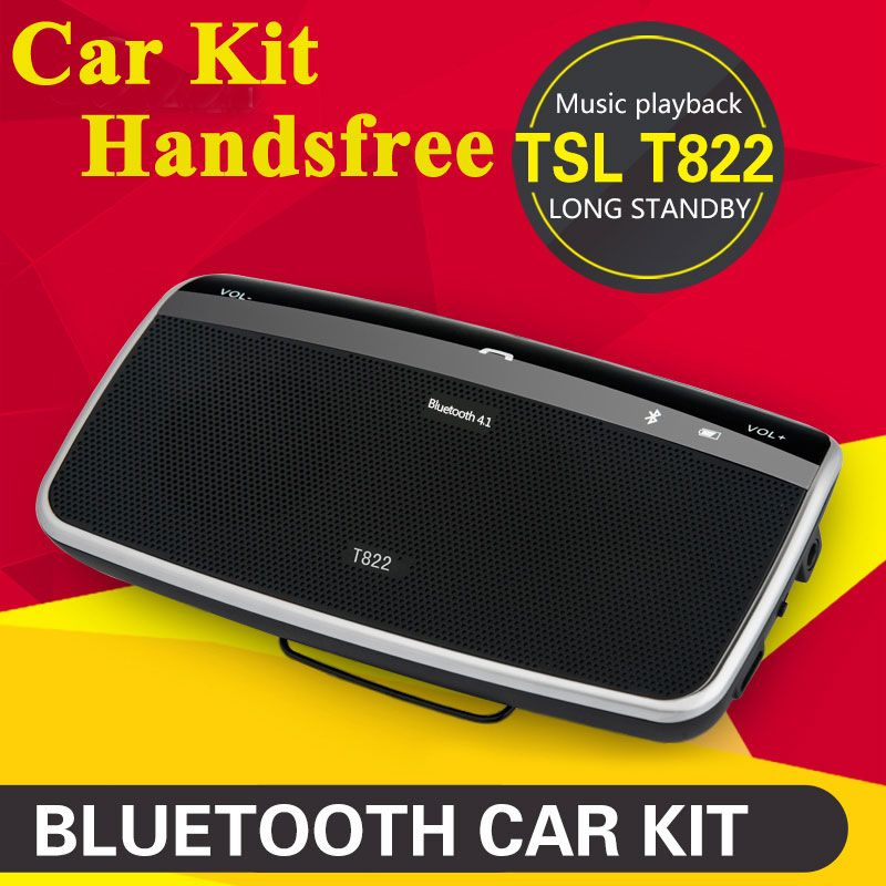 2017 New Bluetooth Automobiles Sun Visor Speaker In-Car Speakerphone Quality Handsfree Car Kit with DSP Car Kit HD Music Play
