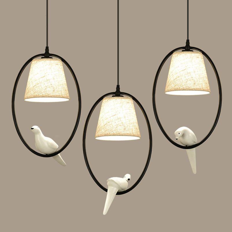 Loft Vintage oiseau lumière chambre salon restaurant café corridorr salle à manger lustre suspension luminaire suspension suspension lampe